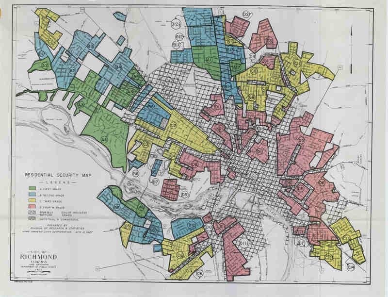 Richmond redlining map