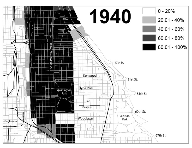 Chicago's Black Belt, 1930, 1940, and 1960