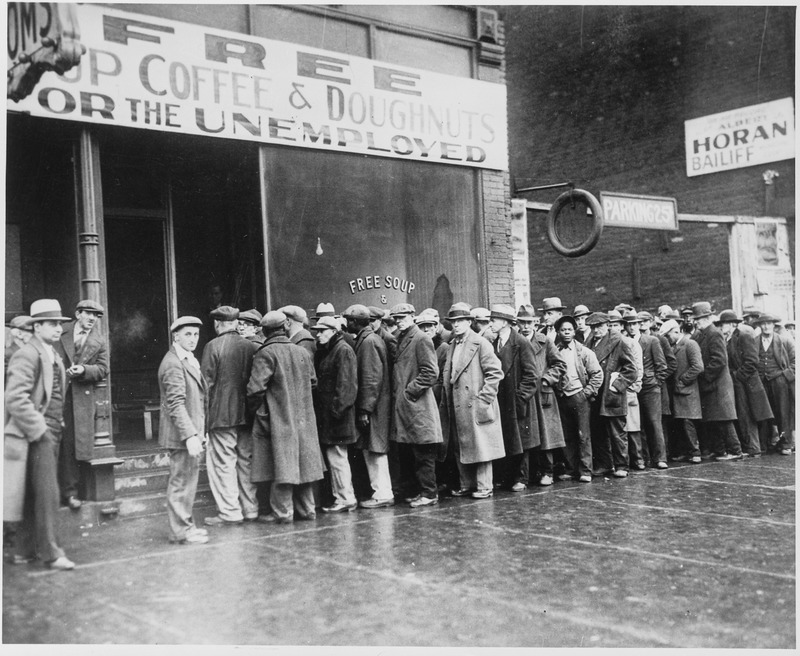 Breadline during the Great Depression